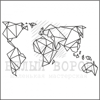 "штамп ""Карта мира"""