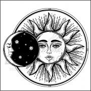 """штамп """"Солнце и Месяц"""""""