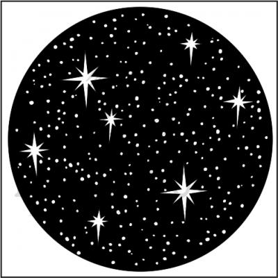 """штамп """"Звездное небо круг"""""""