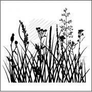 """штамп """"Луговые травы"""""""