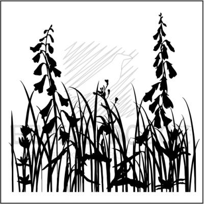 """штамп """"Луговые травы 4"""""""