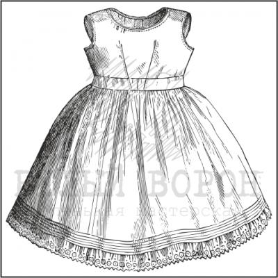 """штамп """"Платье №3"""""""