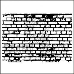 """штамп """"Кирпичная стена мал."""""""