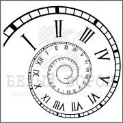 """штамп  """"Спиральные часы Фибоначчи"""""""