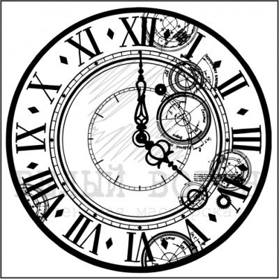 """штамп  """"Часы"""""""