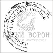 """штамп  """"Геодезический компас"""""""