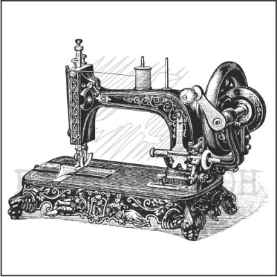 """штамп """"Швейная машинка"""""""
