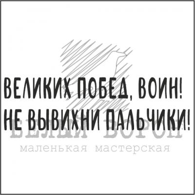 """надпись """"Великих побед, воин!.."""""""